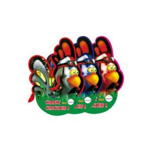 Art.SD0380 Crazy Chicken (Conf. da 3 Pz.)